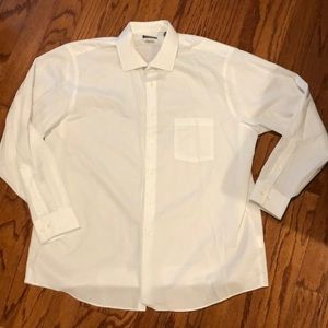 Men's white button down